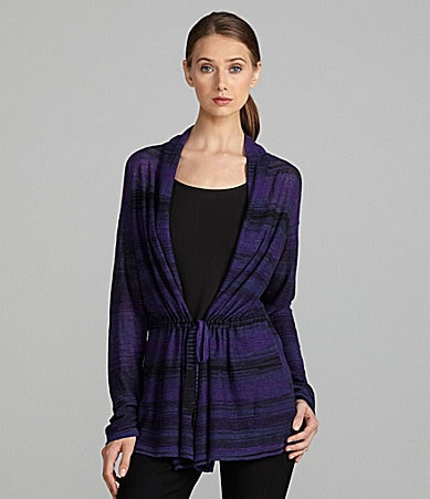 Jones New York Signature Tie-Front Cardigan