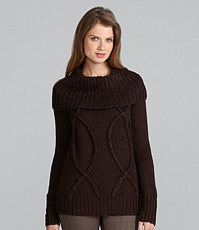 Jones New York Signature Cowlneck Pullover Sweater