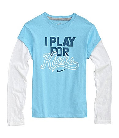 Nike 7-16 I Play For Kicks 2-In-1 Tee
