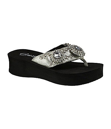 Grazie Marquis Wedge Thong Sandals