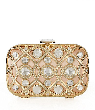 Kate Landry Social Jeweled Minaudiere Evening Bag