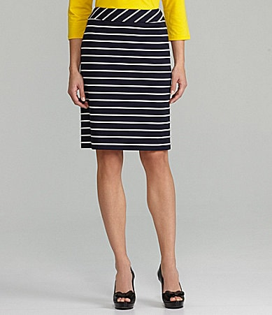 Tahari by ASL Separates Stripe Pencil Skirt