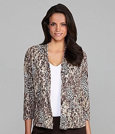 Westbound Animal-Print Burnout Shrug