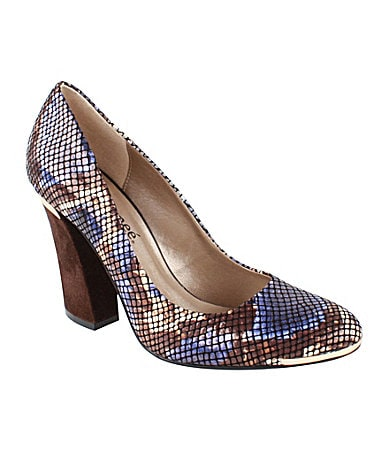 J. Renee Rattle Snake-Print Pumps