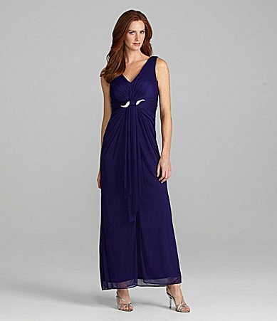 Alex Evenings Sleeveless V-Neck Gown
