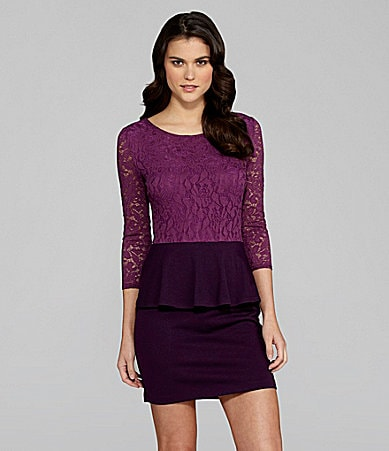 Gianni Bini Stewart Lace Peplum Dress
