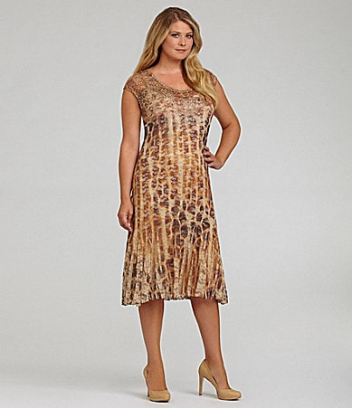 Reba Woman Lace Sublimation-Print Dress