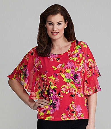 Investments Petites Butterfly Sleeve Top