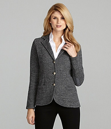 Antonio Melani Made in Italy Blair Blazer With Suede Elbow Patches
