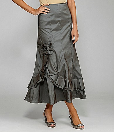 KM Collections Taffeta Skirt