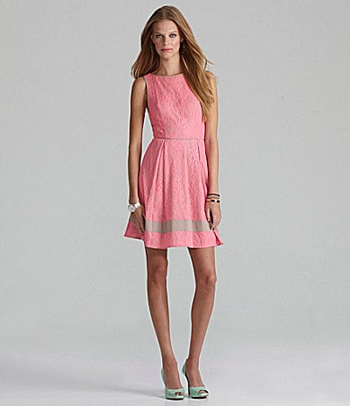 Jessica Simpson Woman Sleeveless Lace Dress