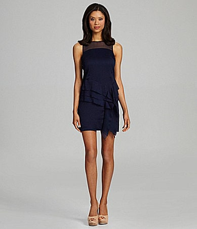 Jessica Simpson Asymmetric Mesh Dress