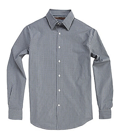 Perry Ellis Mini-Checked Woven Sportshirt