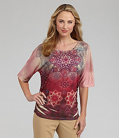 Westbound Woman Dolman-Sleeve Sublimation-Print Top