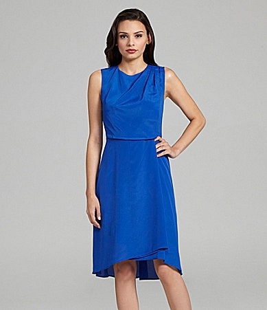 Vince Camuto Sleeveless Asymmetrical Hi-Low Dress