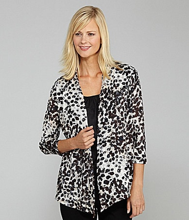 Investments Petites Leopard-Spots Printed Duet Top