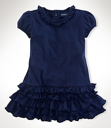 Ralph Lauren Childrenswear Infant Ruched Dress