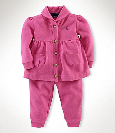Ralph Lauren Childrenswear Infant Fleece Hookup Set