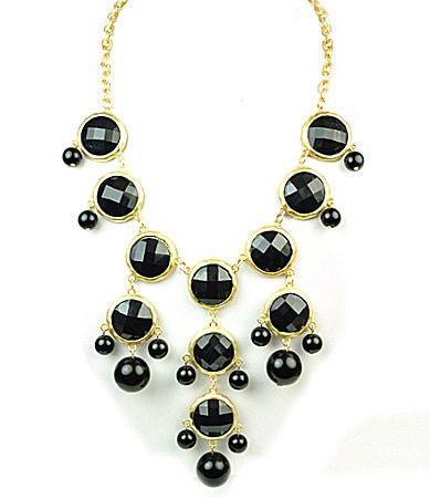 Robert Rose Faceted Stone Statement Necklace