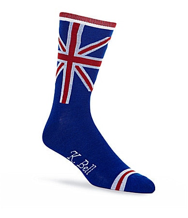 K. Bell British Flag Print Socks