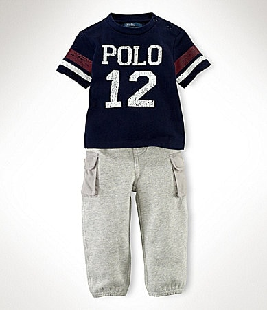 Ralph Lauren Childrenswear Infant Graphic Knit Pant Set