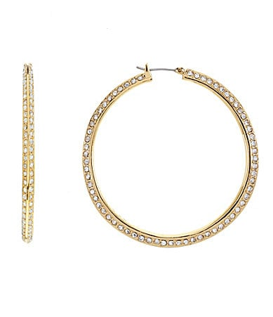 Vince Camuto Crystal Hoop Earrings