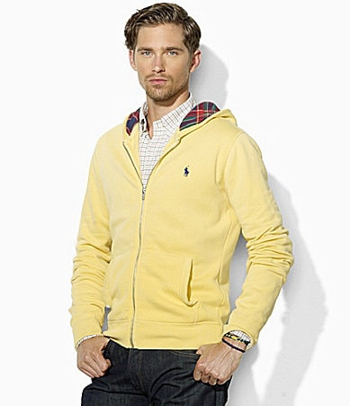 Polo Ralph Lauren Full-Zip Lightweight Fleece Hooded Sweatshirt