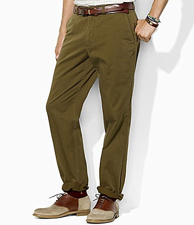 Polo Ralph Lauren Preston Flat-Front Vintage Chino Pants