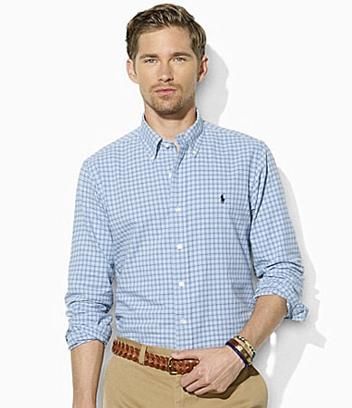 Polo Ralph Lauren Classic-Fit Tattersall Oxford Shirt