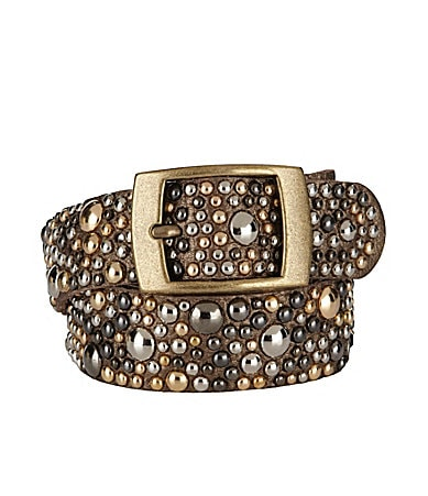Tre Vero Round Studded Leather Belt