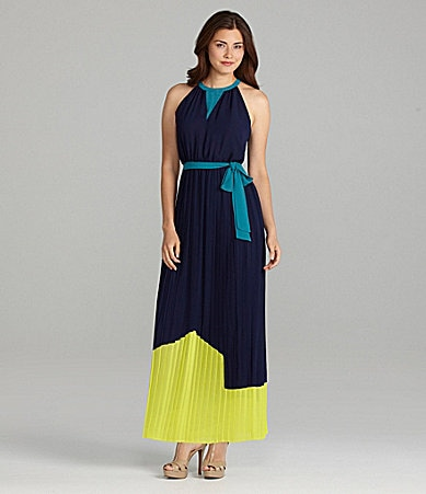 Chelsea & Violet Colorblock Maxi Dress