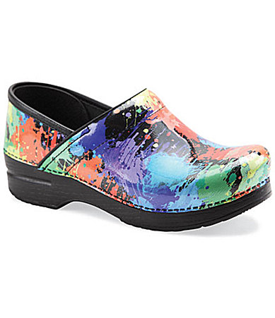 Dansko Professional Paint Splatter-Print Clogs