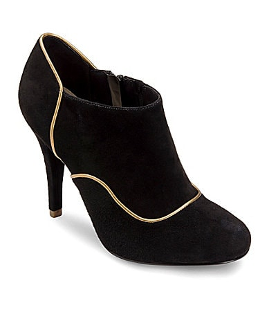 Rockport Presia Zip Suede Booties