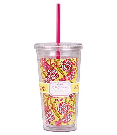 Lilly Pulitzer Sorority Tumbler With Straw