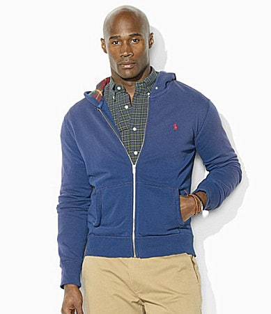 Polo Ralph Lauren Big & Tall Full-Zip Lightweight Fleece Hooded Sweatshirt