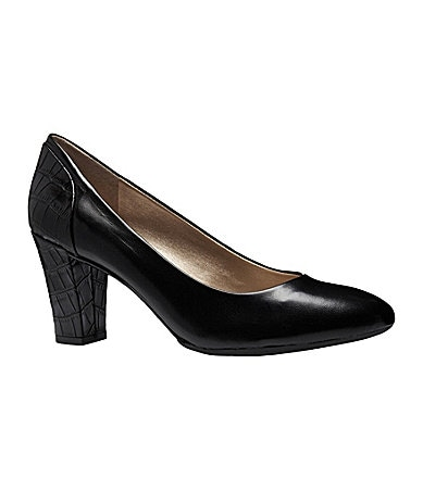 Alex Marie Joy Contrast-Heel Pumps
