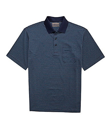 Daniel Cremieux Signature Short-Sleeve Striped Polo Shirt