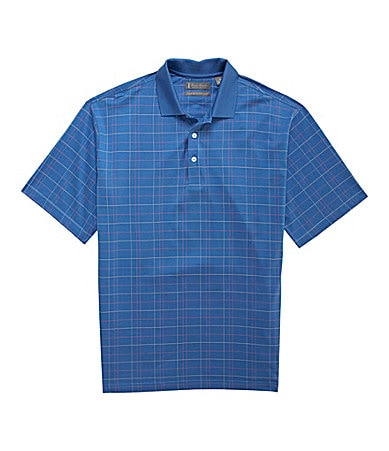 Daniel Cremieux Signature Short-Sleeve Windowpane Polo Shirt