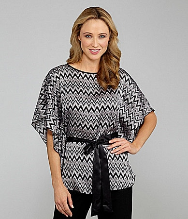 Investments II Belted Zigzag Printed Circle Top