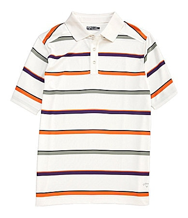 Callaway Big & Tall Road Map Striped Polo Shirt