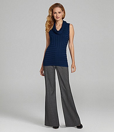 Antonio Melani Leigh Knit Top & Maxine Herringbone Wide-Leg Pants