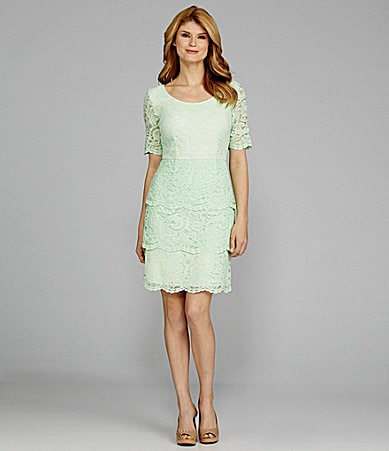 Antonio Melani Tatum Tiered Lace Dress