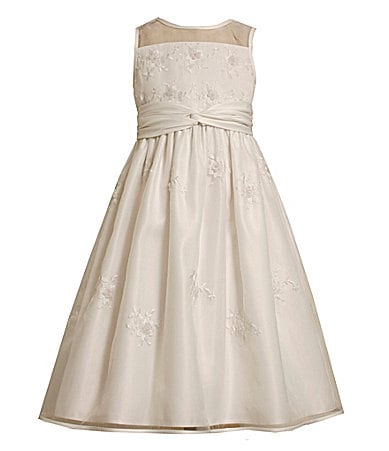 Bonnie Jean 7-16 Embroidered Organza Dress