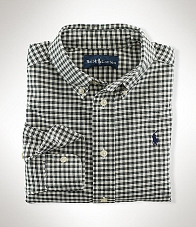 Ralph Lauren Childrenswear 8-20 Gingham Blake Shirt