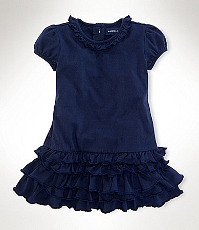 Ralph Lauren Childrenswear Newborn Ruched Dress