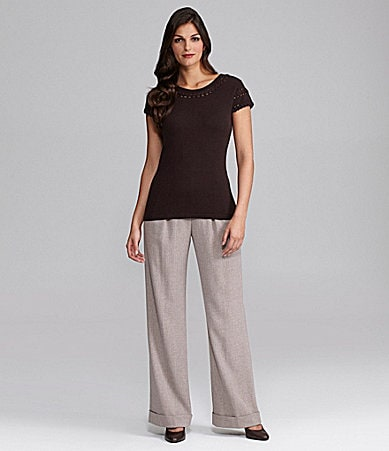 Alex Marie Sugar Knit Top & Mariah Wide-Leg Pants
