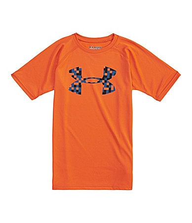Under Armour 8-20 Big Logo Tech Tee