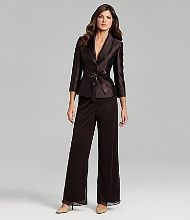 Tahari by ASL 2-Piece Pant Suit