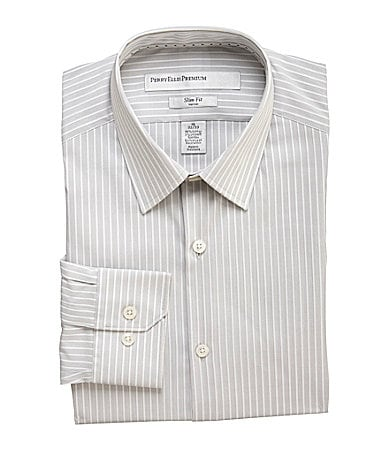 Perry Ellis Point Collar Fitted Dress Shirt