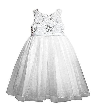 Pippa & Julie 7-10  Sequin-Embellished Ballerina Dress